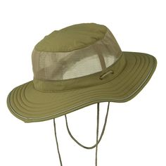 Big Size Mesh Bucket Hat Talson UV - Khaki (For Big Head) - C711H0H6HJB a4c2981ba419