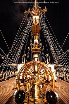 """NRP Sagres / Tall Ship Sagres  """"A Pátria Honrai Que A Pátria Vos Contempla"""" / """"Honor Motherland, Motherland Contemplates You""""  © Nuno Trindade Photography"""