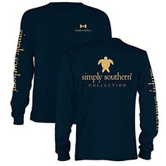 Simply Southern Preppy Gold Turtle Long Sleeve T-Shirt Available in sizes- Adult S,M,L,XL,2XL