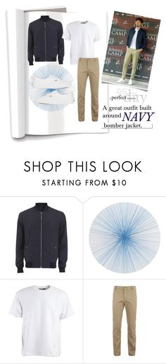 """""""Men's Style: Navy Bomber Jacket"""" by josehline on Polyvore featuring Versace, Tisch New York, Alexander Wang, Lacoste, White Label, Vans, men's fashion and menswear"""