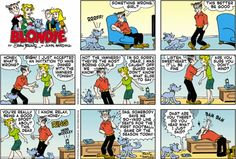 Comic book sex blonde dagwood