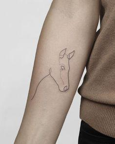 BERLIN and WARSAW booking open horse simple minimalism minimalistic smalltattoo ink inked tattooedgirls line horsetattoo Dainty Tattoos, Mini Tattoos, Cute Tattoos, Beautiful Tattoos, Body Art Tattoos, Small Girl Tattoos, Tatoos, Neck Tattoo For Guys, Tattoos For Guys