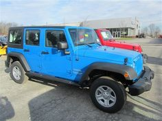 2012 Jeep Wrangler Unlimited Cosmos blue I want it so bad but they no longer make this color :(( and I want econnect sad day!