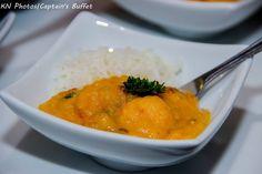 Bobozinho de camarão com arroz branco. Captains Buffet.