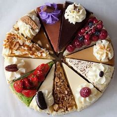Funny pictures about 12 Slices Of Delicious Cheesecake. Oh, and cool pics about 12 Slices Of Delicious Cheesecake. Also, 12 Slices Of Delicious Cheesecake photos. Cake Recipes, Dessert Recipes, Dessert Ideas, Decoration Patisserie, Delicious Desserts, Yummy Food, Delicious Chocolate, Chocolate Cake, Bon Dessert