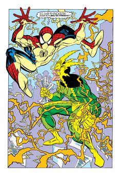 Spidey Vs. Electro in The Amazing Spider-Man #337 - Erik Larsen & Terry Austin