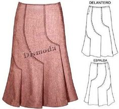Many skirt pattern on one page Fashion Details, Diy Fashion, Womens Fashion, Fashion Design, Skirt Patterns Sewing, Clothing Patterns, Pattern Skirt, Sewing Clothes, Diy Clothes