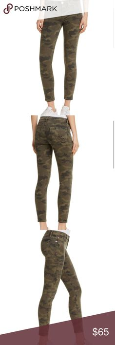"Camo Mid-Rise Skinnies Stretchy, quality-made camo jeans with a vintage wash. 9"" rise, 28"" inseam, 10"" leg opening. No flaws - in perfect condition! They could fit a 27 as well. Hudson Jeans Jeans Skinny"