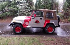 Jurassic Park Jeep Wrangler Decals Accurate by PaulElderDesign