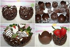 How to Make Chocolate Bowls | HowToCookThat : Best Birthday Cakes Desserts Parties Gingerbread Houses & Cake Pops