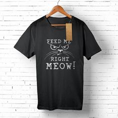 Hungry Cat Men's Tee Funny Cat T-shirt for Him Cat