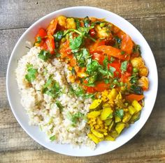Curried Veg with Lime, Chilli Pickle & Brown Rice