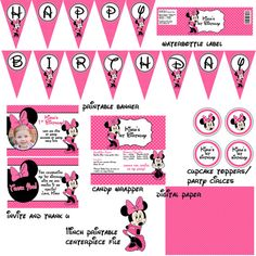 SALE Minnie Mouse Birthday Party Package Digital File on Etsy, $15.00  So happy I purchased this item for my baby girl birthday party!