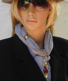 Scarf with Jewelry