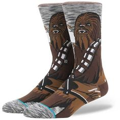 Stance Chewie Pal Socks - Brown Large ($20) ❤ liked on Polyvore featuring men's fashion, men's clothing, men's socks, brown, stance mens socks and mens brown socks
