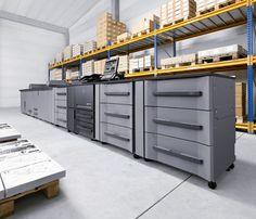 Konica Minolta bizhub PRESS 1250. A digital press designed for high-speed, high-volume B production print.