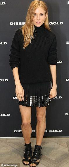 Sienna Miller ub Diesel Black Gold, Diesel Flagship Store Cocktail Party
