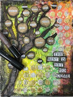 Art Journal #3 Faber-Castell Design Memory Craft's DT post http://enjoyscrappin2.con