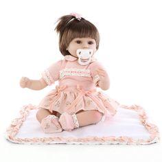 새로운 패션 43 센치메터 아기 아기 인형 살아있는 인형 태어날 아기 장난감 부드러운 실리콘 아기 장난감 실제 터치 사랑스러운 신생아