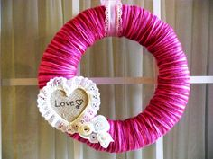 Wreath Valentines Day Decorating Ideas - Real House Design