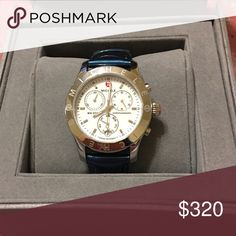 michele mw sport chronograph watch authentic michele..no scratches on face..will ship with extra band (worth $60) and a band pouch.. Michele Accessories Watches