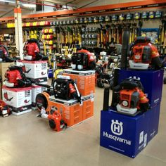 A nice blower display on one of our showrooms.