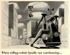 """National Motor Bearing Co. Inc ads, Fortune magazine 1950's We should definitely know about Art Radebaugh and his incredible futuristic artwork which both stood on its own and appeared in many advertisements, especially for """"National Oil and Grease Seals"""". Art by Arthur Radebaugh (1906-1974) http://vintage-ads.livejournal.com/5152842.html"""