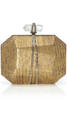 Marchesa ●    Clutch in Gold Python- ~LadyLuxury ~