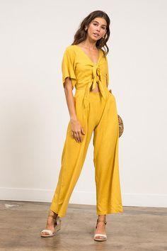 9e1a75f0386 Lucy Paris Jacqueline Tie Jumpsuit -  90  theradicalblog  falloutfits   jumpsuits Yellow Jumpsuit