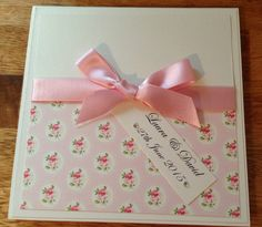 Handmade Wedding Invitation Pocketfold Cath Kidston, Shabby Chic, Flowers, Vintage - Any Colour