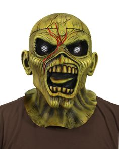 A fully licensed official mask of Iron Maiden's mascot Eddie is finally available. Based on the cover art for the classic Piece of Mind album, this highly detailed sculpt captures all the detail and expression of Eddie. Great for Halloween, your next metal concert, or for display in your home.