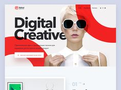 Landing Page for Creative Agency designed by Max Iver. Connect with them on Dribbble; the global community for designers and creative professionals. Website Design Layout, Layout Design, Header Design, Coperate Design, Graphic Design, Detail Design, Webdesign Layouts, Mises En Page Design Graphique, Template Web