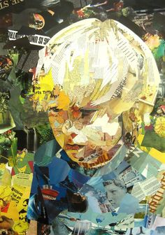 Artist Patrick Bremer has created works of art using cutouts of magazines and books.