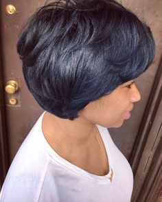 Love this subtle blue by @artistry4gg - https://blackhairinformation.com/hairstyle-gallery/love-subtle-blue-artistry4gg/