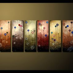 HUGE Harmony and Color ENORMOUS Modern Abstract Contemporary Custom Commission 36x72x1.5 the painting is 6 feet wide by D.ROB