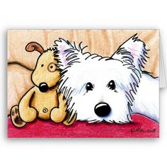 ..Ditto and note card Pudge Westie Dog
