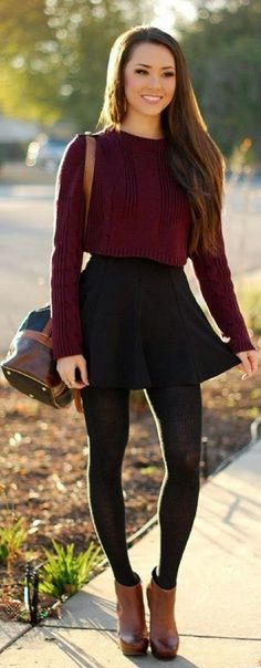 20 Ways to Wear a Skirt when the Weather Gets Cold ... → …