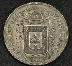Brazilian Coins 960 Reis Silver Coin of 1816, King John VI.