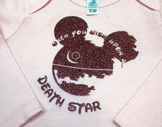 Star Wars Inspired Mickey Ear Death Star by onceUPONyourTshirt Disneyland 2016, Disneyland Vacation, Disney Vacations, Disney Trips, Mickey Ears, Mickey Mouse, Fandom Fashion, Disney Ideas, Death Star