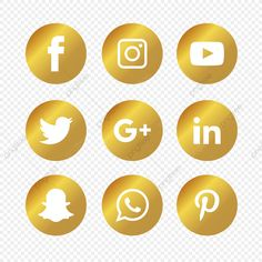 Download this Golden Social Media Icons Set, Social Media Icons, Social Media, Social Media Logo transparent PNG or vector file for free. Pngtree has millions of free png, vectors and psd graphic resources for designers.  3572454