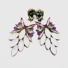 Fashion Jewelry For Women Charm Accessories Vintage Earring Multicolor Resins Flower Stud Earrings1116 Like and share!Visit us: www.jewelrydue.co... #shop #beauty #Woman's fashion #Products #homemade