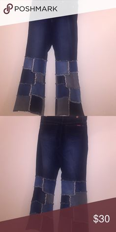 New wide leg Denim New Dark blue patch classics 11/12 Zana Di Jeans Flare & Wide Leg