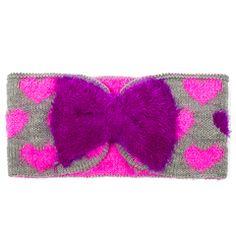 Fuzzy Hearts Headwrap