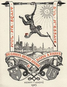 ex libris of Henry Andre. (@REB It's kind of like the Librarian! Ook!)