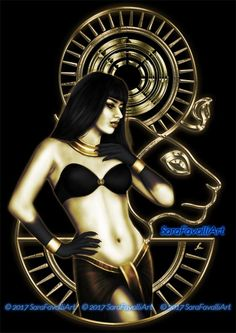 Egyptian Goddess Sekhmet, Sara Favalli on ArtStation at https://www.artstation.com/artwork/Nm58b