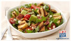 """A great summer side dish! Grilled Bread Salad or """"Panzanella"""" Grilled Bread, Bread Salad, Summer Side Dishes, Easy Food To Make, Cobb Salad, Lunchbox Ideas, Bacon, Grilling, Sandwiches"""