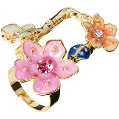 Talullah Tu Long Cut Out Flower Ring ($25) ❤ liked on Polyvore