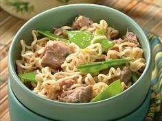 Slow Cooker Gingered Pork and Ramen Noodles