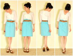 C&C: How to make a paper bag skirt with box pleats tutorial!