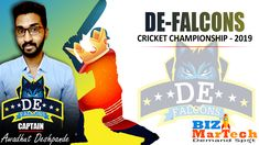 Bizmartech Championship 2019  Team DE-Falcons  #team #championship #cricket #ground #fun #sports #skills Cricket, Falcons, Champion, Activities, Baseball Cards, Business, Sports, Fun, Hawks